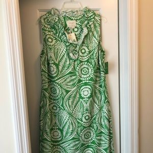 Line green and white Kate Spade dress